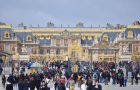 Versailles, France - March 31, 2015: Many tourists are waiting to visit Versailles Palace, France